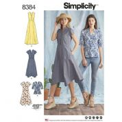 8384 Simplicity Pattern: Misses' Dress and Top